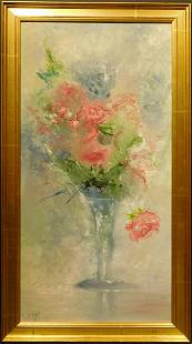 Knight: Abstract Roses in a Vase