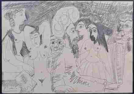 Pablo Picasso Manner of: Harem