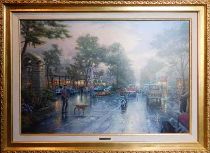 Thomas Kinkade: Carmel, Sunset on Ocean Avenue