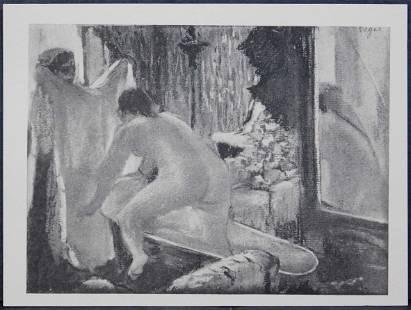After Edgar Degas: Le Bain LXVII