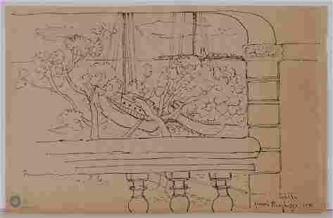 Henri Matisse, Attributed/Manner of: Tahiti Sketch