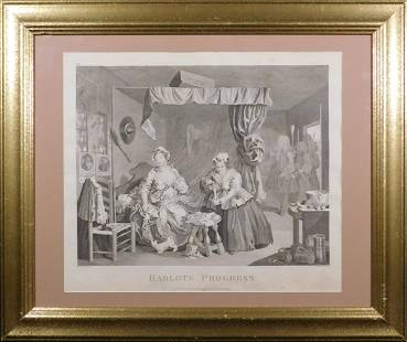 William Hogarth (After): A Harlot's Progress, Plate 3