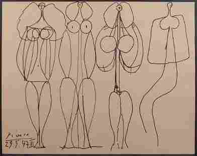Pablo Picasso, Manner of/ Attributed: Demoiselles
