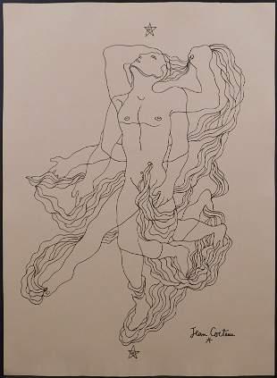 Jean Cocteau, Manner of: Surreal Figure Falling