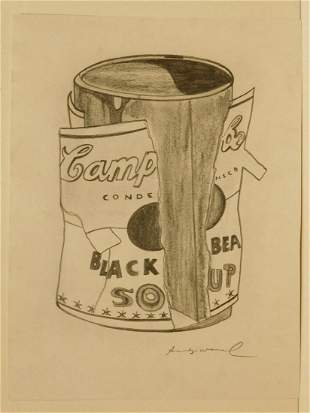 Andy Warhol Attributed Soup Can w/ Torn Label