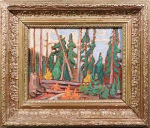 Lawren Harris, Manner of: Forest Study
