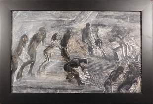 Abstract Dancing Figures