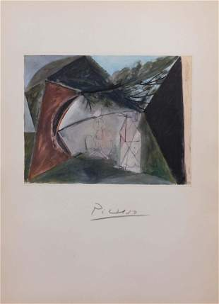 Pablo Picasso , After: Signed Lithograph, Deux Faunes