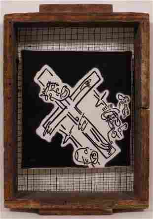 T Marie Nolan: Mixed Media Construction, (Crucifixion )
