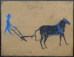 Bill Traylor, Manner of / Attributed: Man with a Plough