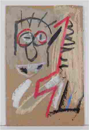 Jean-Michel Basquiat, Manner of: Cabeza Postcard