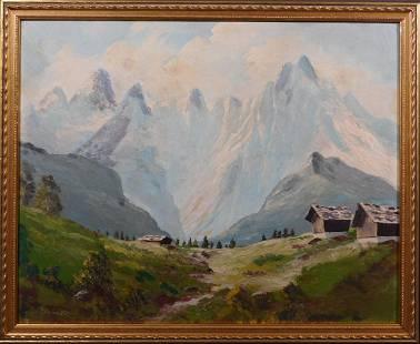 G. Krells: Valley Below the Mountains