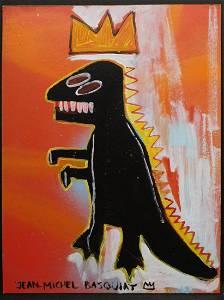 Jean-Michel Basquiat, Manner of: Crown T-Rex