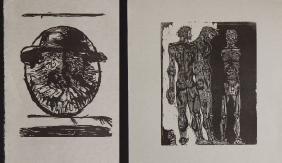 Leonard Baskin: 2 Wood Cut Print Proofs