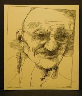 Leonard Baskin: Portrait of Ghandi, 1967