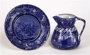 Blue and white transfer Historical Pottery Ro