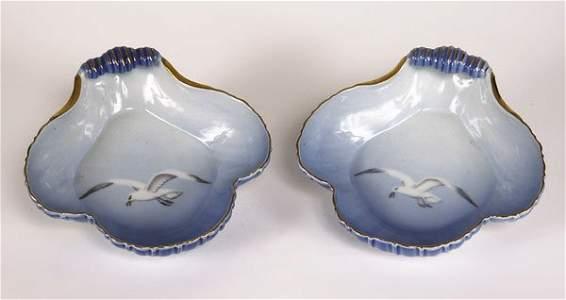 72221069: Pair of Bing & Grondahl shell shape seagull p