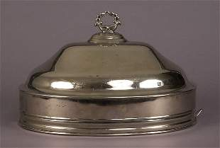 English silverplate meat dish cover
