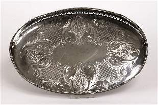 Cavendish silverplate oval gallery tray
