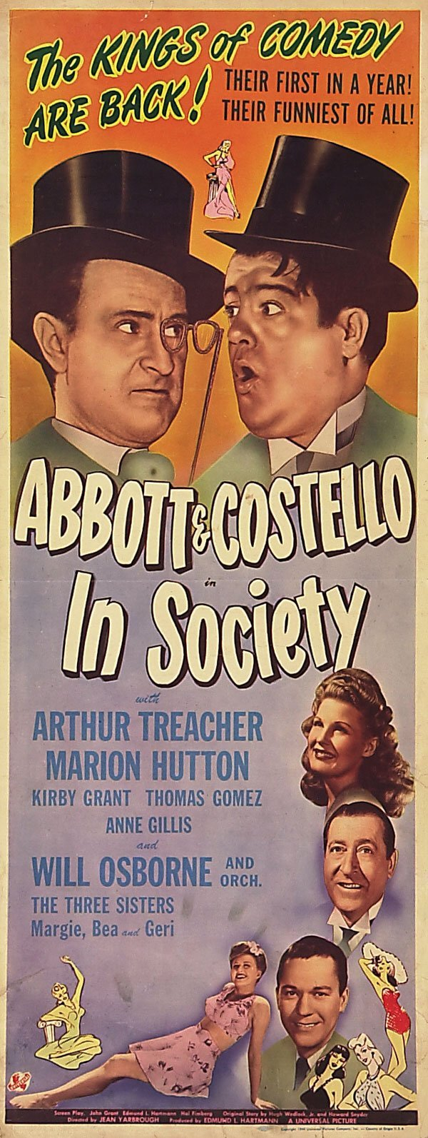 72300006: ABBOTT AND COSTELLO IN SOCIETY (1944)