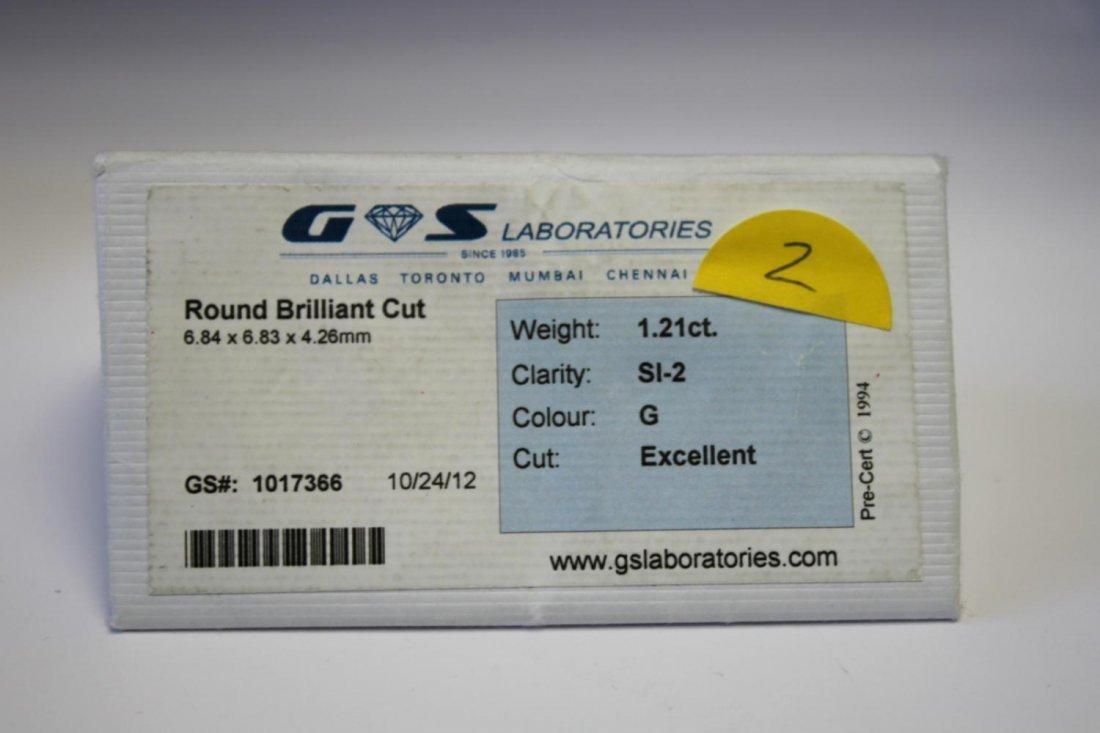 White 1.21ct round G-colour SI2 diamond