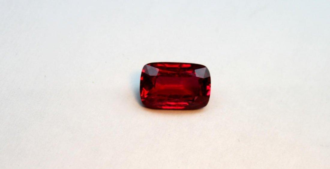 Fine cushion-shaped ruby