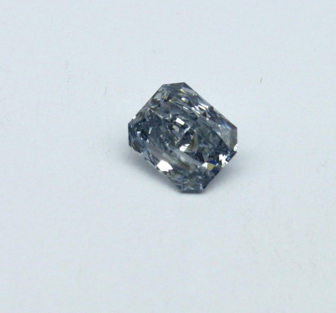 Fancy intense blue radiant-cut 0.94ct diamond