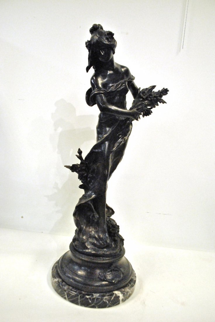 A BRONZE BY AUGUSTAE MOREAU, 'RIEN DES PRES',