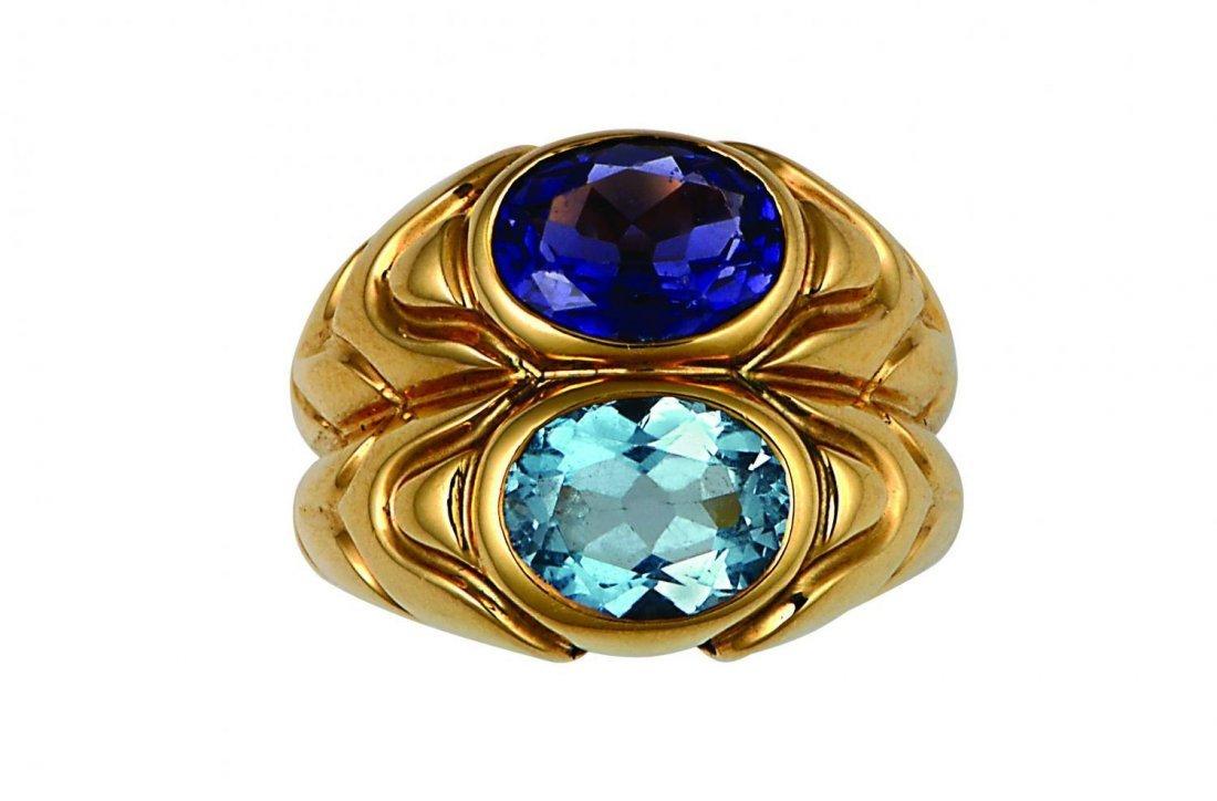 An 18k gold Bulgari ring