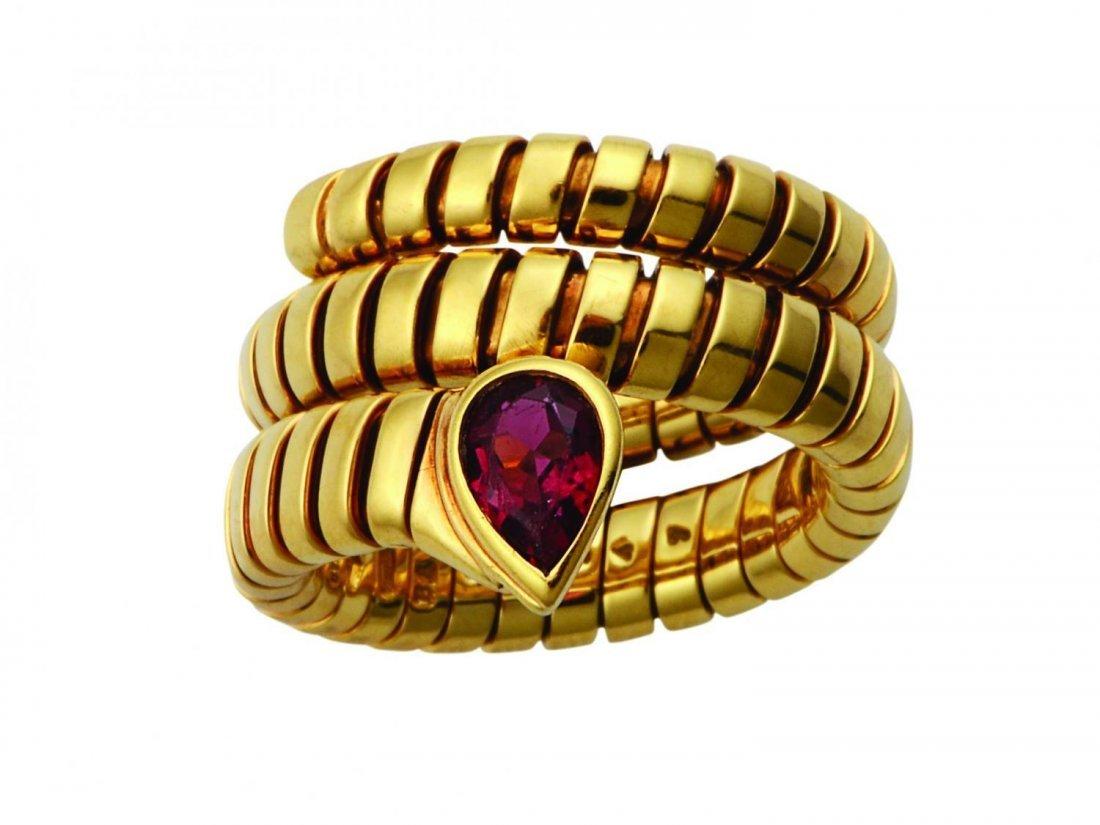 A Tourmaline ring by Bulgari