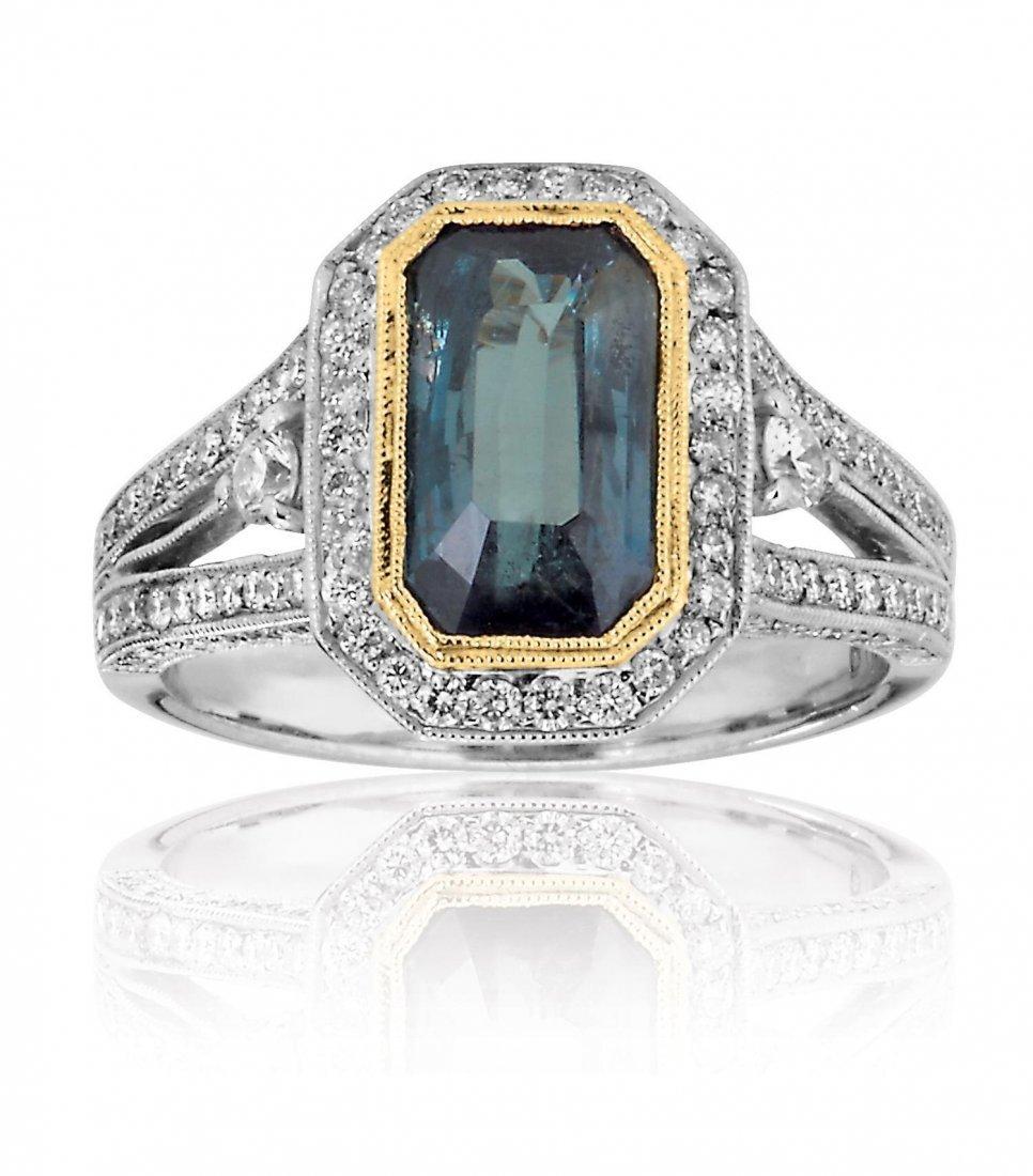 ALEXANDERITE DIAMOND RING