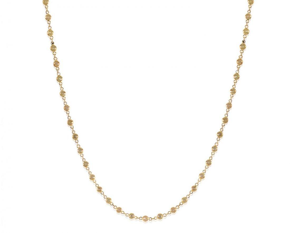 A yellow sapphire chain