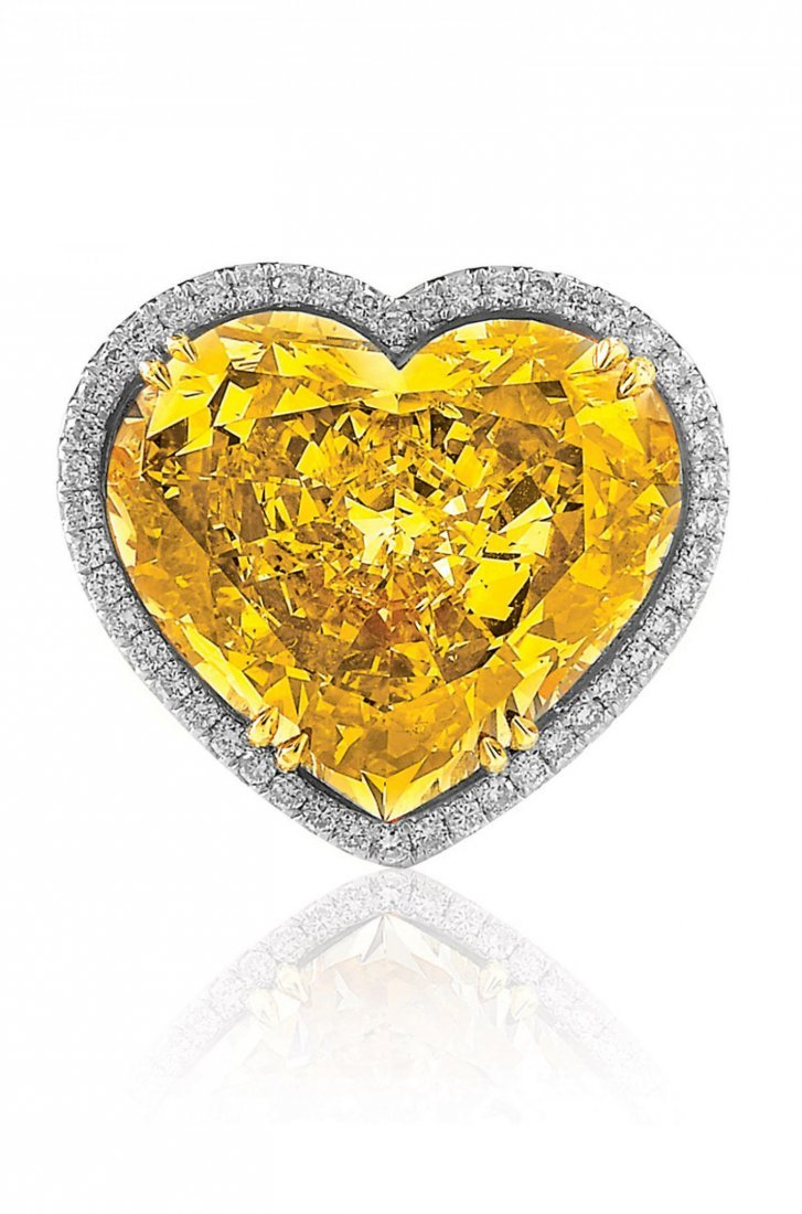 VERY IMPORTANT HEART SHAPED YELLOW DIAMOND