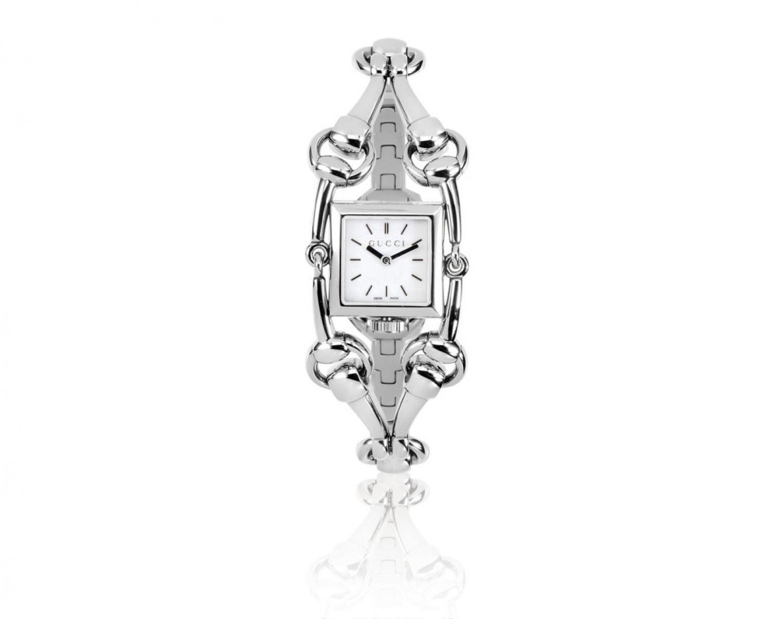GUCCI, A LADIES' SIGNORIA STAINLESS STEEL WRISTWATCH