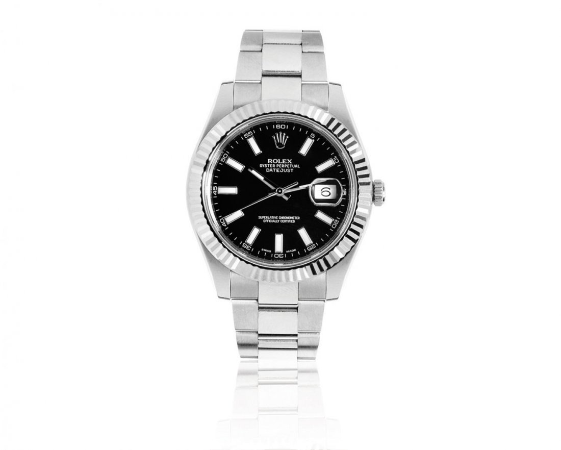 "ROLEX, A MEN'S ""DATEJUST II"" STAINLESS STEEL"