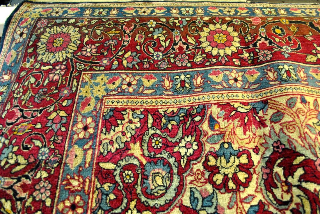 A HAND-KNOTTED PERSIAN KASHAN/TEHRAN,