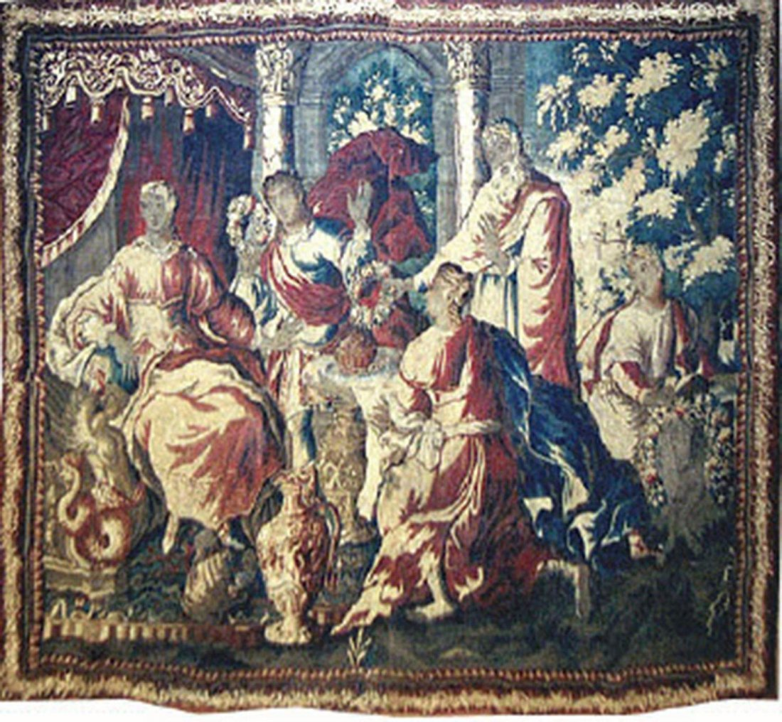 A FRENCH AUBUSSON BIBLICAL TAPESTRY,