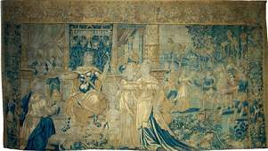 A BRUSSELS HISTORICAL TAPESTRY DEPICTING THE CORONATIO