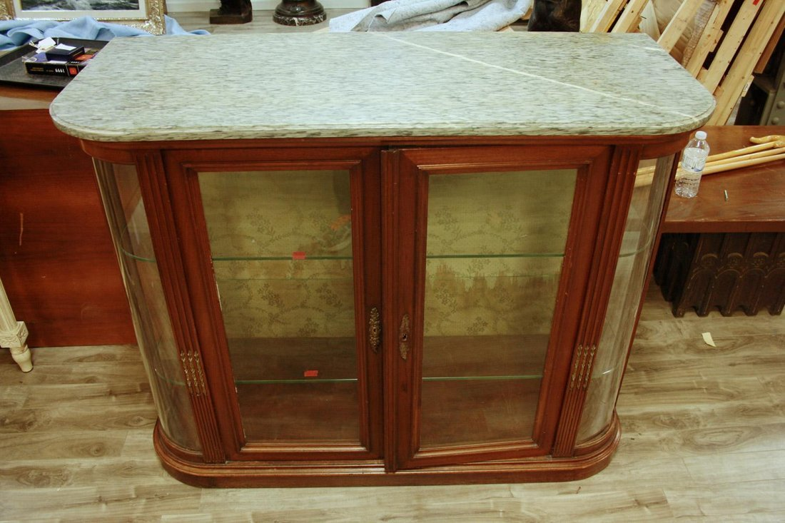 A GLASS CABINET TROPHY CASE,