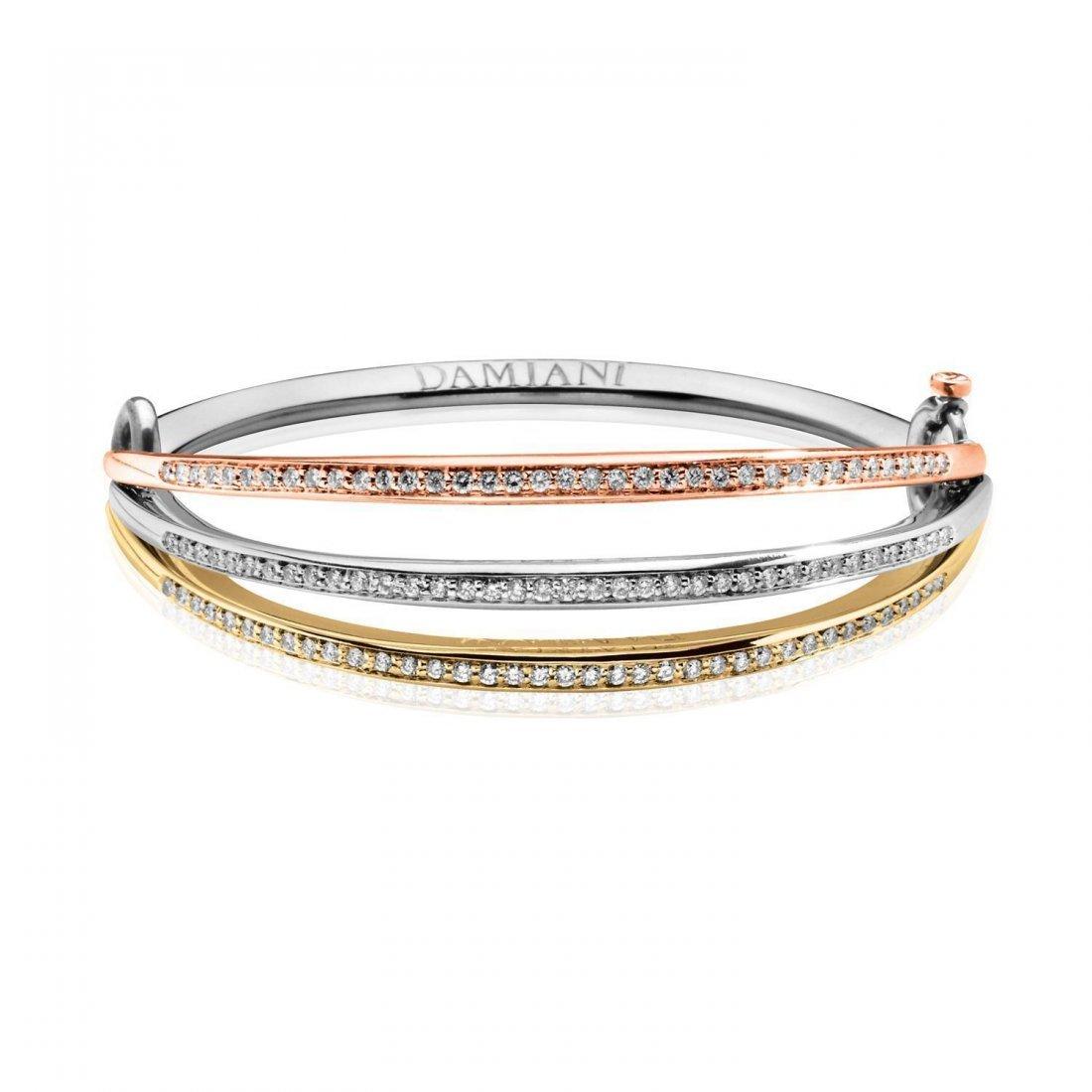 A white gold bracelet by Damiani,