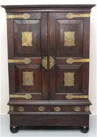 CHINESE THEMED HARDWARE ARMOIRE