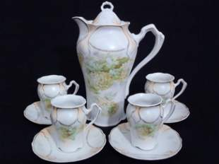 Antique RS Prussia Hand painted Chocolate Set