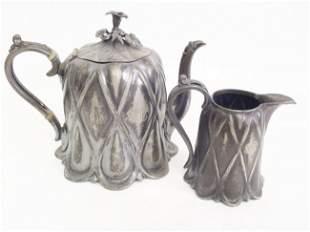 ANTIQUE JAMES DIXON BEST BRITTANIA TEA SERVING LOT