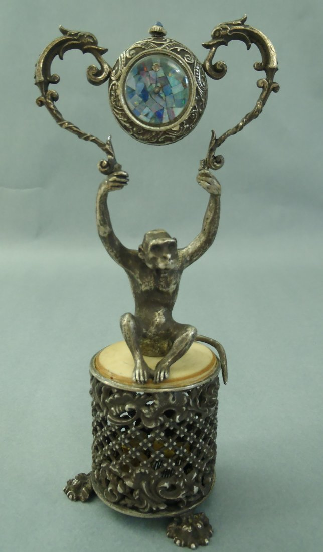 ANTIQUE STERLING CARTIER MUSIC BOX