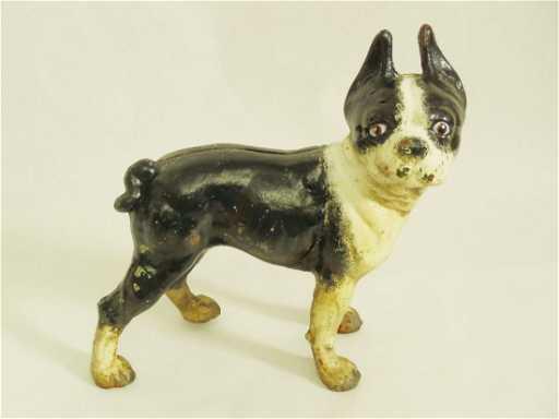 - Antique Hubley Cast Iron Boston Terrier Door Stop