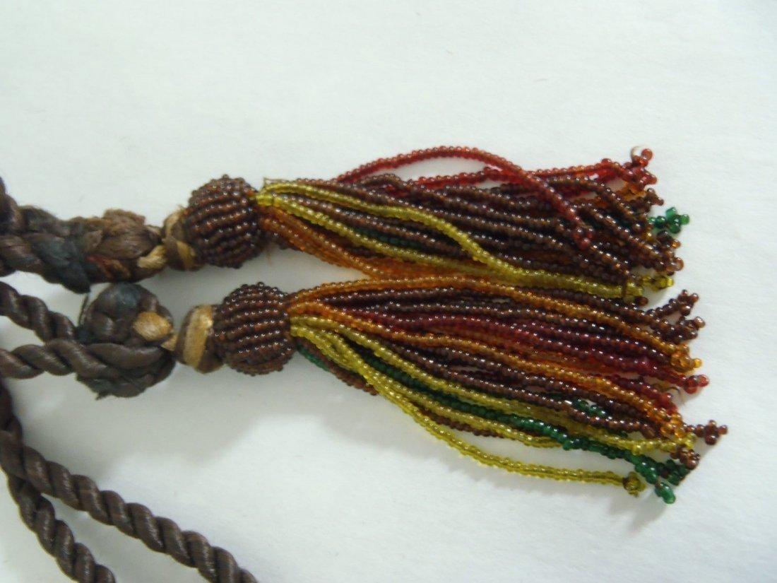 Antique Art Nouveau Celluloid & Glass Beads Purse - 3