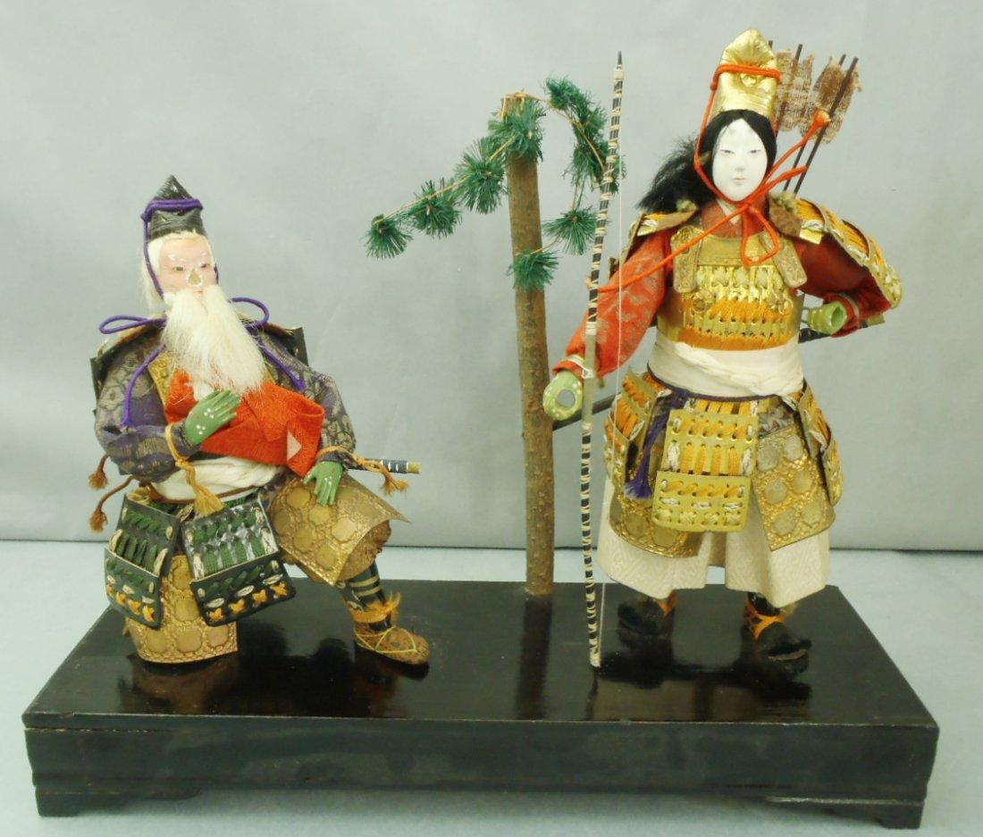 Early Carved Wooden Japanese Empress Jingu