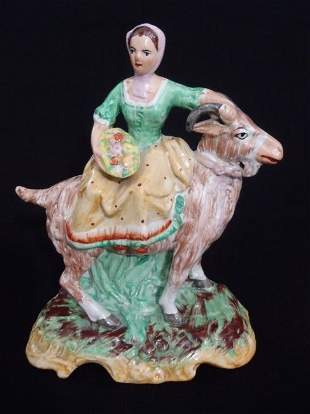 English Staffordshire Porcelain Figurine Farmer