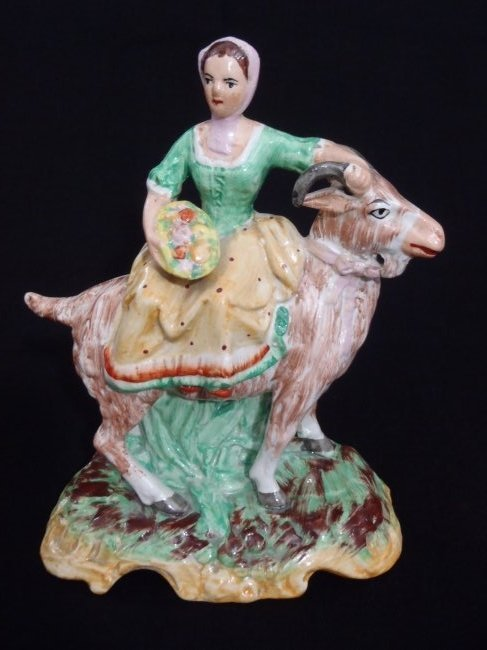 English Staffordshire Porcelain Figurine Farmer
