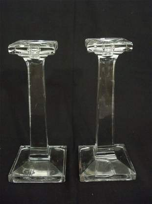 EAPG American Flint Glass Candle Sticks